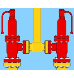 Safety overload relief valves vector