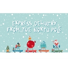 Santas express from the north pole vector