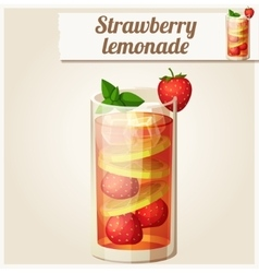Strawberry lemonade Detailed Icon vector image