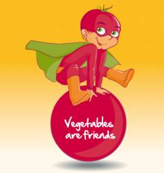 tomato boy vector image