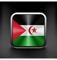 Western sahara icon flag national travel icon vector