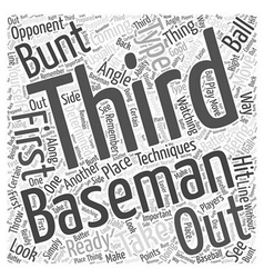 Techniques for the third baseman word cloud vector