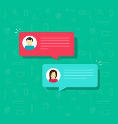 Chat bubble icon flat messages bubbles vector