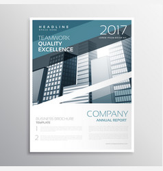 Creative business brochure or flyer poster design vector