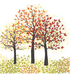 Autumn multicolored forest vector