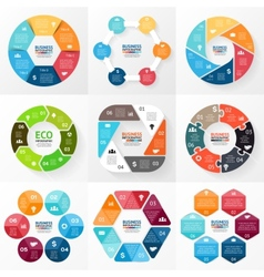 Circle infographic Diagram graph presentation vector image