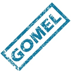Gomel rubber stamp vector