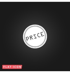 Price flat icon vector
