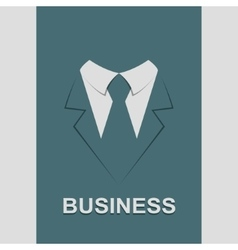 Suit with tie abstract isolated vector