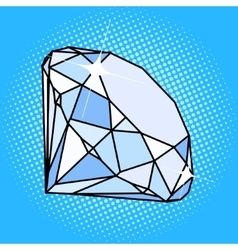 Diamond gemstone pop art style vector