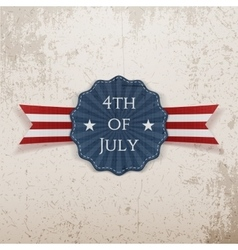 Independence day 4th of july greeting tag vector