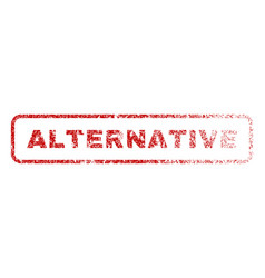 Alternative rubber stamp vector