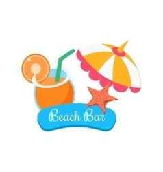 Beach bar summer vacation vector