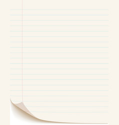 Blank white paper vector
