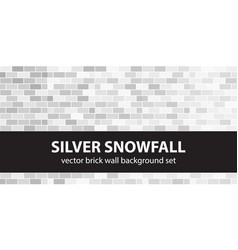 brick pattern set silver snowfall seamless vector image