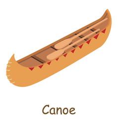 canoe icon isometric 3d style vector image