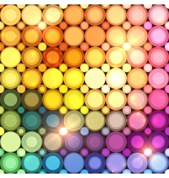 Colorful disco circles abstract background vector