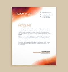 Corporate business letterhead vector