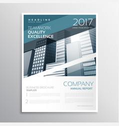 Creative business brochure or flyer poster design vector