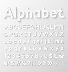 Decorative paper alphabet vector