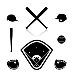 Equipment for baseball vector image vector image