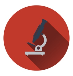 Flat design icon of School microscope in ui colors vector image