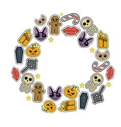 Halloween set icon vector