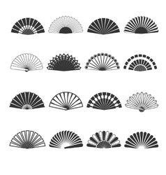 Hand fan icons vector