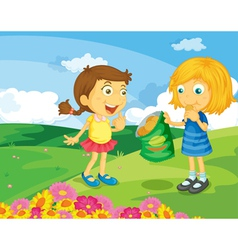In the park vector image vector image