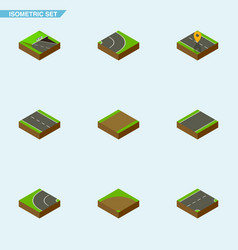 Isometric road set of navigation unilateral vector