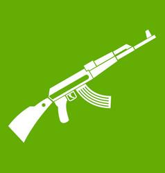 kalashnikov machine icon green vector image