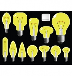 light bulbs shapes vector image vector image