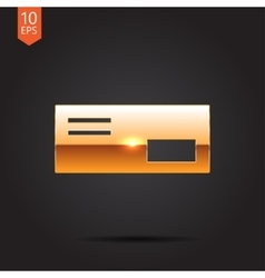 mail icon Epsgold0 vector image vector image