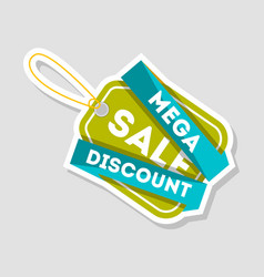mega discount sale isolated badge vector image