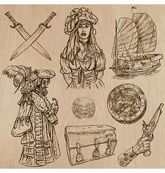 Pirates no4 - an hand drawn pack vector