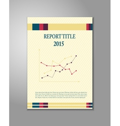 Report cover design vector