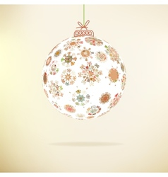 Retro Christmas background EPS8 vector image vector image