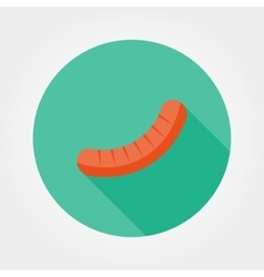 Sausage icon flat vector