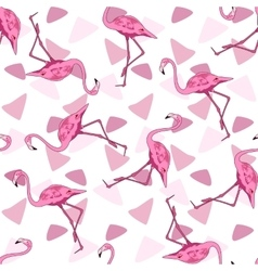 Seamless background of a flamingo vector