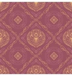 Seamless oriental wallpaper6 vector image vector image
