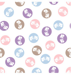 Seamless pattern with cute little ram vector