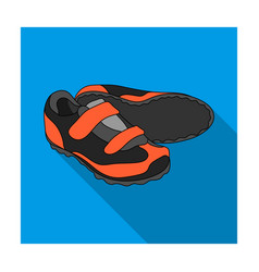 Shoes for cyclists special cycling for cycling vector