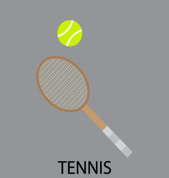 Tennis sport icon flat vector image vector image