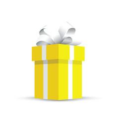 yellow present gift vector image