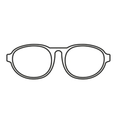Fashion glasses isolated icon vector