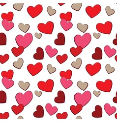 Valentines Day Hearts Love seamless pattern vector image