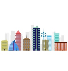 multi-colored city vector image