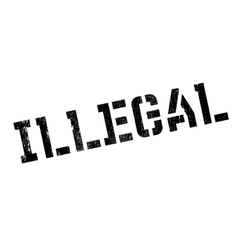 Illegal rubber stamp vector