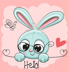 Cute drawing rabbit vector