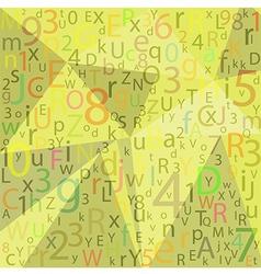 ABC Designed background vector image